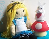 Crochet Doll - Fairytale - Alice In Wonderland Set - Special Edition