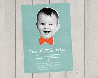 Bow Tie Birthday Invitation - Children's Birthday Invite