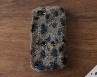 Dot Cat iPhone case for iPhone5 / 5c / 5s [soft type] Brown