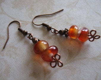 Carnelian Nugget Earrings