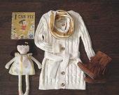 Toddler Infinity Scarf: Mustard Striped Jersey
