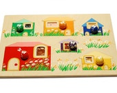 Montessori toddler toy wooden puzzle  ( age 1,5-3 years)
