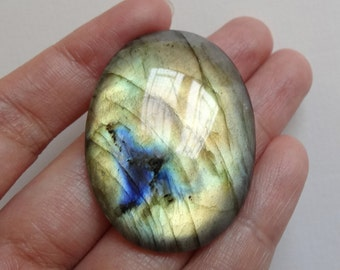 Labradorite Oval Cabochon with Flat Back Calibrated 30x40 mm 1 Piece N1895