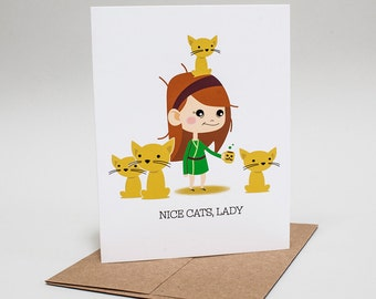 Sympathy: Cat Lady Card