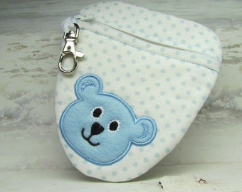 Pacifier Pouch Binky Bag with Lobster Clasp