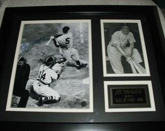 Joe DiMaggio signed autographed plaque - New York Yankees baseball