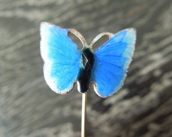 Vintage Enamel Butterfly Stick Pin
