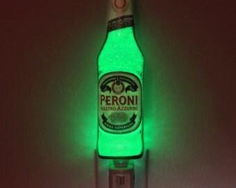 12oz Peroni Italian Beer Night Light Accent Lamp 50,000 hour Eco LED Man Cave bar light