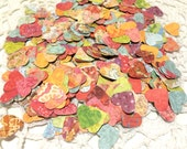 Wedding Heart Confetti, Multicolored Reception Table Decoration, Summer Birthday Party, Bridal Shower - 500 Count