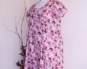 Vintage Roses Summer Dress - Crisp Cotton designed for fuller figure
