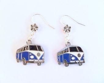 VW Split Screen Camper Van Earrings