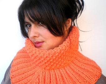 SALE Sunshine Fashion   Cowl Super Soft Neckwarmer Woman Cowl Salmon Orange