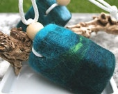 Lemongrass & Eucalyptus Wet -n- Wooly Felted Soap on a Rope