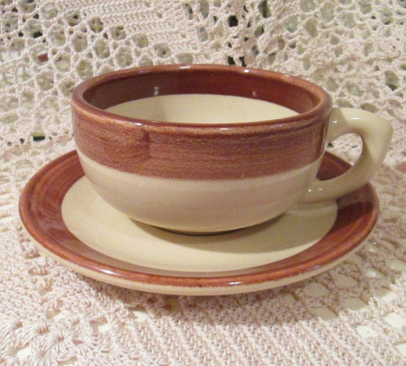 Large Restaurant Ware Coffee Cup And Saucer By Caribe China