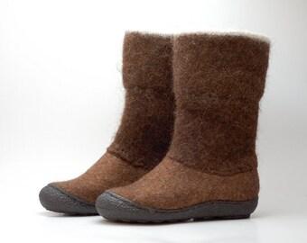 READY to SHIP size EU 39/ us women 8.5 Handmade brown Flat Shoes for Women
