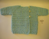 SALE*** Long Sleeve Baby Sweater by Angel Kisses  3-6M Aqua Blue/Yellow