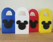 12 Mini Mickey gift box/bag,  favor bags, mini favor bags, Mickey party bags