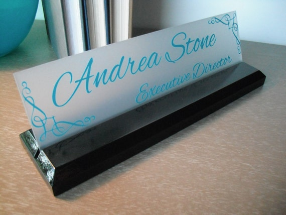 Office Name Plates: Desk Name Plate Personalized Professional Office Gift By