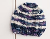 CLEARANCE - Ready to Ship - Handpsun Merino Wool Newborn Beanie Hat - Photography Prop