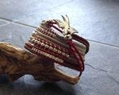 Lucky Swallow - silver charm wrap bracelet