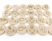 Wooden Memory Matching Game 24 Pieces