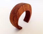 Cuff Bracelet Teak Wood Boho Jewelry
