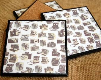 Vintage Camera Coaster Set