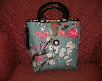 Pink Cherry Blossoms Handbag