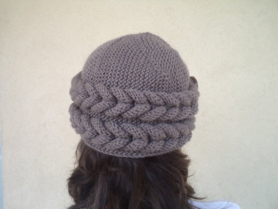 unique knitted slouchy hat knit hat unique by