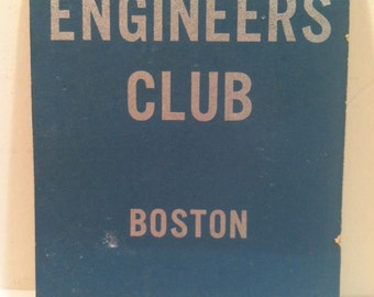Engineer's Club, Boston - Vintage Giant Feature Matchbook