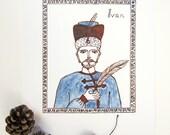 """Firebird Nursery Art Print - """"Ivan"""""""