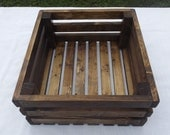 Reclaimed Wooden Storage Crate With Walnut Finish, Home Decor, Wedding Decor, Kitchen Decor