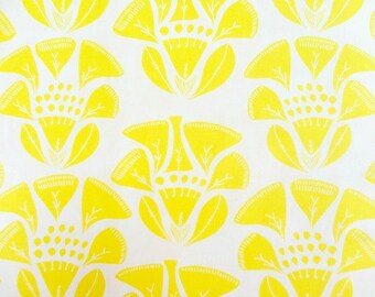 Art Gallery Fabric - 1 Fat Quarter Folklore in Sunray / Tule by Leah Duncan
