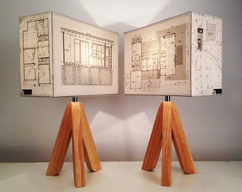 By Bespoke Order : YOUR HOUSE PLANS made into a light shade, Architecture lighting