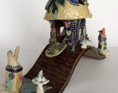 Fairy Guard House Garden or Aquarium Sculpture