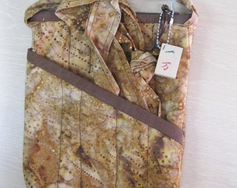 Quilted large Mahjong bag/purse