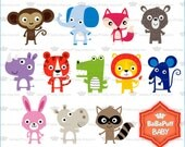 Digital Jungle Animals Clip Art---- Personal and Small Commercial Use ---- BB 0806