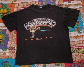 1980s KANSAS Band 'In The Spirit Of Things' T-Shirt Size XL 80s
