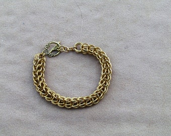 Brass Persian Chain Maille Bracelet