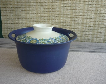 Vintage Mid Century Modern Scandinavian Covered Casserole Dish, Figgjo Flameware, Norway