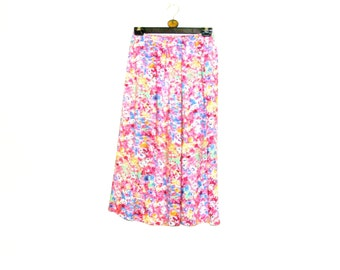 Floral Skirt, Maxi Skirt, Skirts, Long Skirt, Elasticated Skirt, Womens Skirts, Small, By Rebeccas Clothes