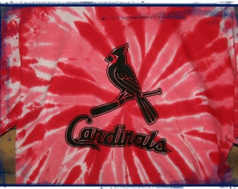 St louis cardinals stl youth large t shirt tie dyed red for Arizona cardinals tie dye shirt