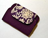 Zip & Go Mobile Phone Pouch, Purple Linen READY TO SHIP