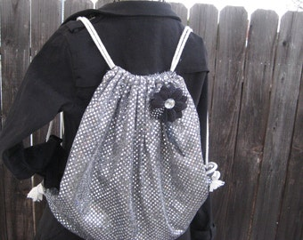 Shimmer and glitter backpack ladies hipster chic