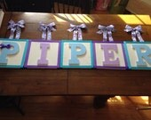 Preppy Wooden Letters on Canvas
