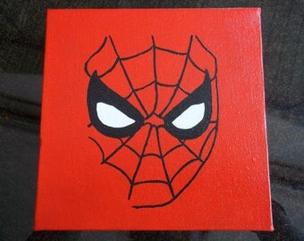 Spiderman 6x6 Acrylic Painting