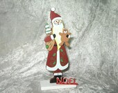 Santa Claus figure with letters, christmas miniature, Papa Noel miniature, handmade miniature - Dollhouses Miniature scale 1:12