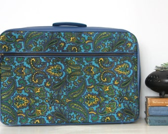 Made in Japan Vintage Mod Paisley Floral Overnight Suitcase