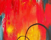 Abstract Painting Canvas Art, Original Acrylic Art by Sarah Ettinger, 24 x 18 inches