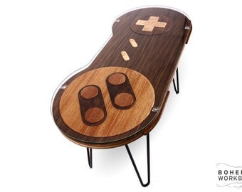 16-bit Retro Gaming Occasional Table - Walnut